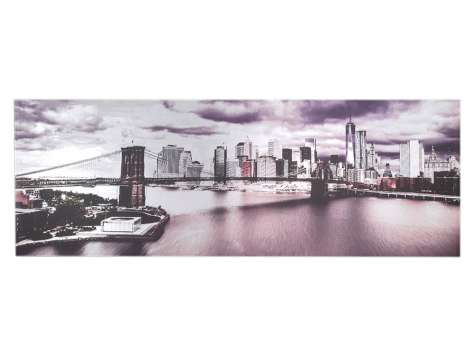 OBRAZ NEW YORK S42319 180x60cm ALUMINIUM ART