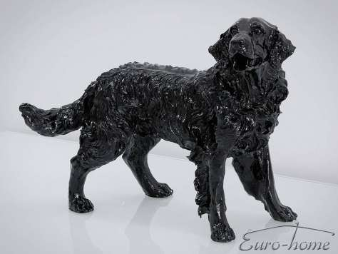 FIGURA A020 PIES GOLDEN RETRIEVER 54x44x34cm CZARNY