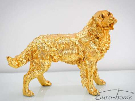 FIGURA A020 PIES GOLDEN RETRIEVER 54x44x34cm ZŁOTY